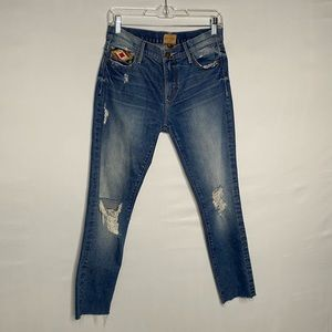 Driftwood Marilyn denim jean w/ embroidered pocket